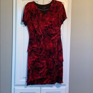 Connected Apparel Rose print dress Size 12